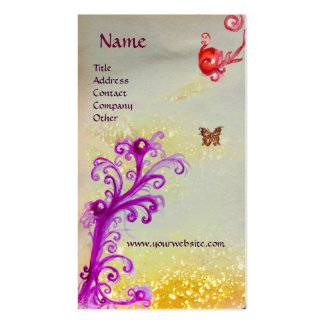 BUTTERFLY IN SPARKLES SILVER PLATINUM MONOGRAM BUSINESS CARDS