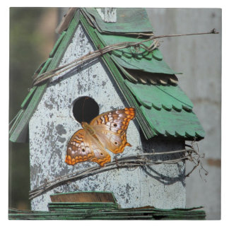 Butterfly in the Birdhouse Tile