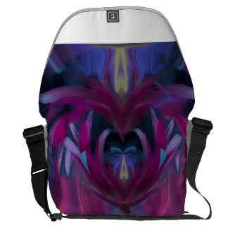 Butterfly in the Cornflowers No 3 Messenger Bag