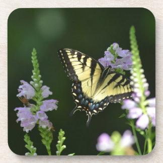 Butterfly In The Garden Drink Coaster
