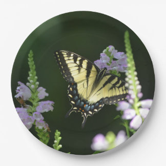 Butterfly In The Garden Paper Plate