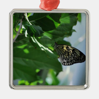 Butterfly In The Shade Metal Ornament