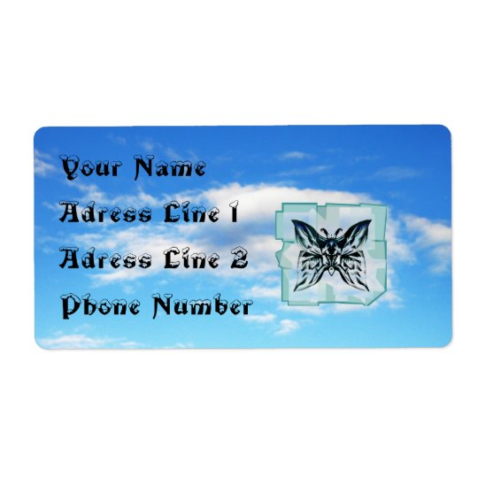 Butterfly in the Sky Adress Label  Sheet