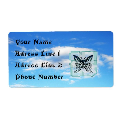 Butterfly in the Sky Adress Label  Sheet Shipping Label