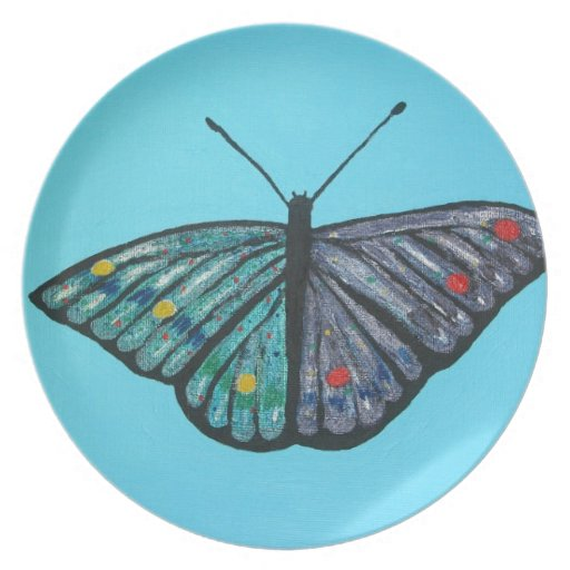 Butterfly in the Sky Plate