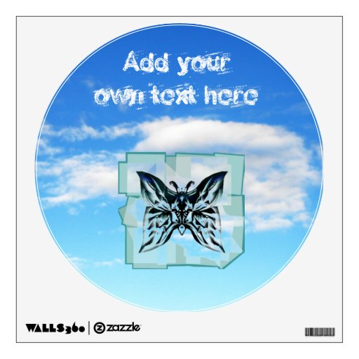 Butterfly in the Sky wall decall Wall Sticker
