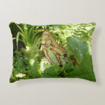 Butterfly in Tropical Leaves Nature Photography Accent Pillow