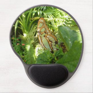 Butterfly in Tropical Leaves Nature Photography Gel Mouse Pad
