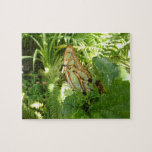 Butterfly in Tropical Leaves Nature Photography Jigsaw Puzzle