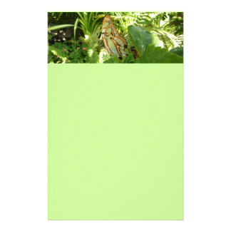 Butterfly in Tropical Leaves Nature Photography Stationery