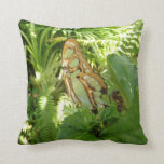 Butterfly in Tropical Leaves Nature Photography Throw Pillow