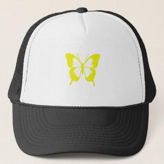 Butterfly in Yellow Trucker Hat