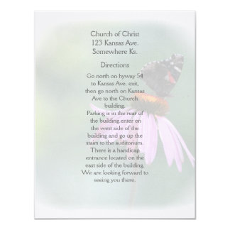 Butterfly information cards custom announcements
