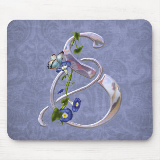 Butterfly Initial S Mouse Pad