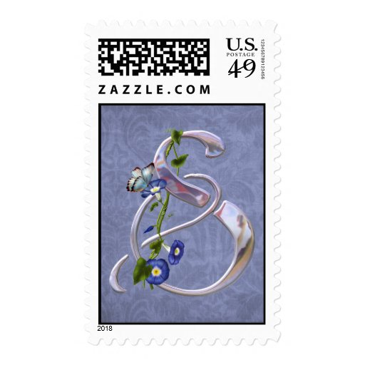Butterfly Initial S Stamps