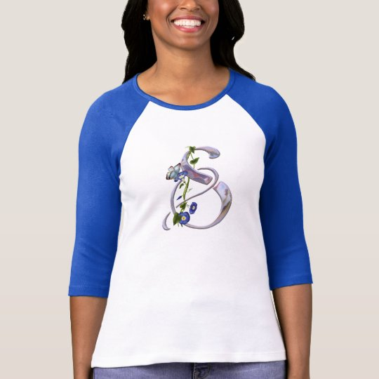 Butterfly Initial S T-Shirt