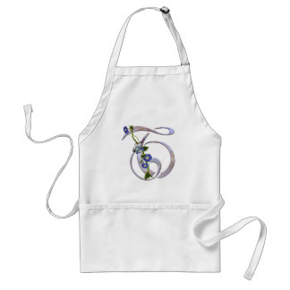 Butterfly Initial T Adult Apron