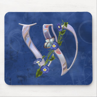 Butterfly Initial W Mouse Pad