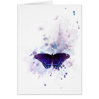 butterfly ink impression card