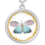 Butterfly insect pendant illustration Necklace