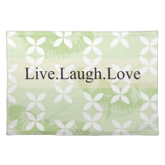 Butterfly Inspirations Live Laugh Love Cloth Placemat