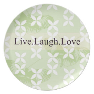 Butterfly Inspirations Live Laugh Love Plate