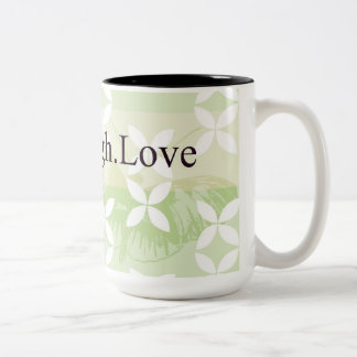 Butterfly Inspirations Live Laugh Love Two-Tone Coffee Mug