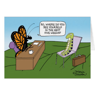 Butterfly Interview Greeting Card