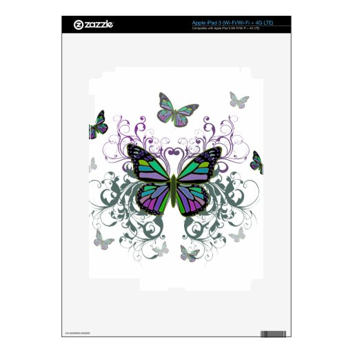 Butterfly iPad 3 Decals