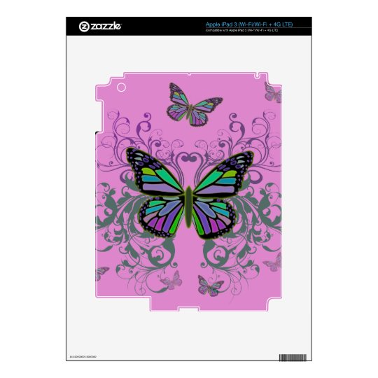 Butterfly iPad 3 Skins