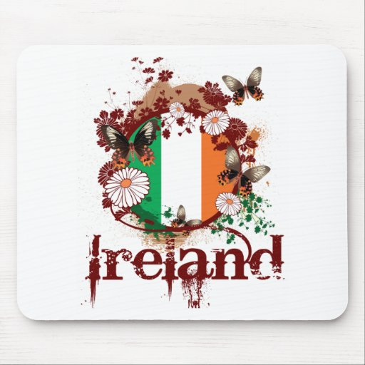Butterfly Ireland Mouse Pad