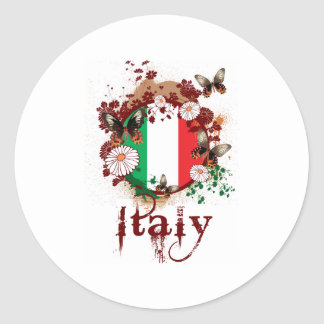 Butterfly Italy Classic Round Sticker