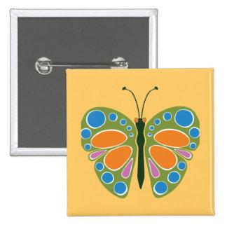 Butterfly Jam Green Pinback Button