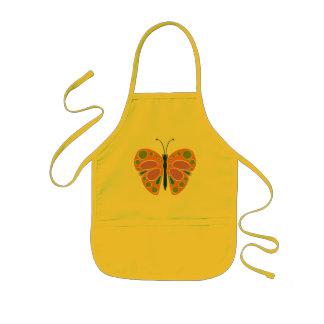 Butterfly Jam Orange Kids' Apron