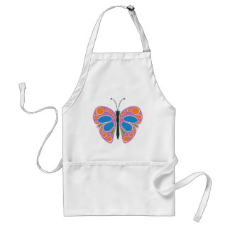 Butterfly Jam: Pink Adult Apron