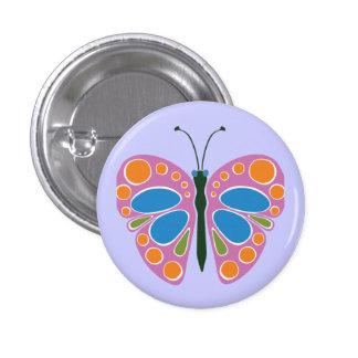 Butterfly Jam Pink Pinback Buttons