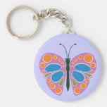 Butterfly Jam Pink Key Chains