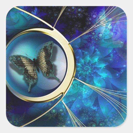 Butterfly Jewel Token Square Sticker