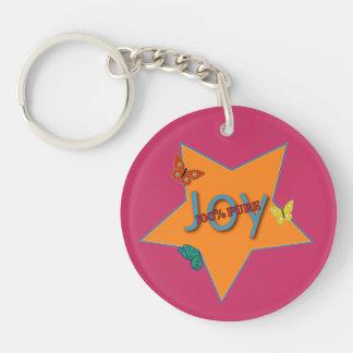 Butterfly Joy Double-Sided Round Acrylic Keychain