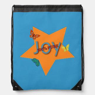 Butterfly Joy Drawstring Backpack