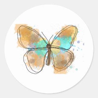 butterfly .JPEG Classic Round Sticker