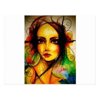 Butterfly.jpg lady postcard