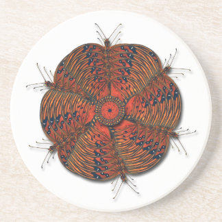 Butterfly Kaleidoscope Blossom Coaster