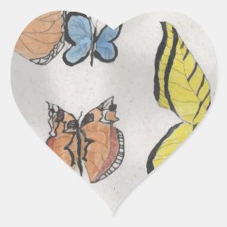 Butterfly Kaleidoscope Heart Sticker