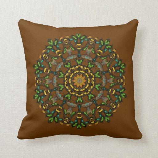 Butterfly Kaleidoscope Throw Pillow