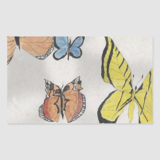 Butterfly Kaleidoscope Rectangular Sticker