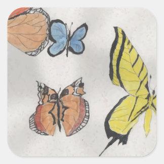 Butterfly Kaleidoscope Square Sticker