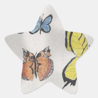 Butterfly Kaleidoscope Star Sticker