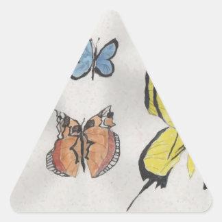 Butterfly Kaleidoscope Triangle Sticker