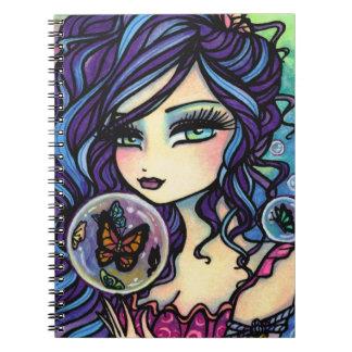 Butterfly Keeper Mermaid Notebook by Hannah Lynn